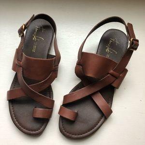 Franco Sarto Toe Loop Artist Collection Sandal
